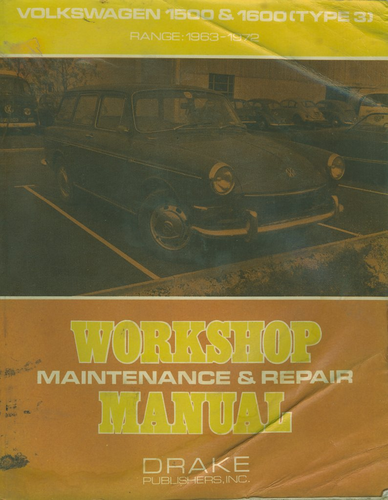 VW 1500/1600 Workshop Manual,