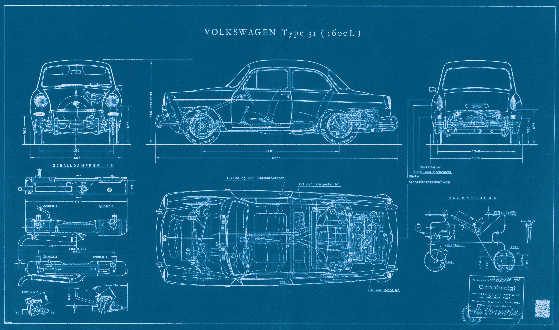 Vw 1500 type 3 on pinterest volkswagen type 3 for Blueprint design