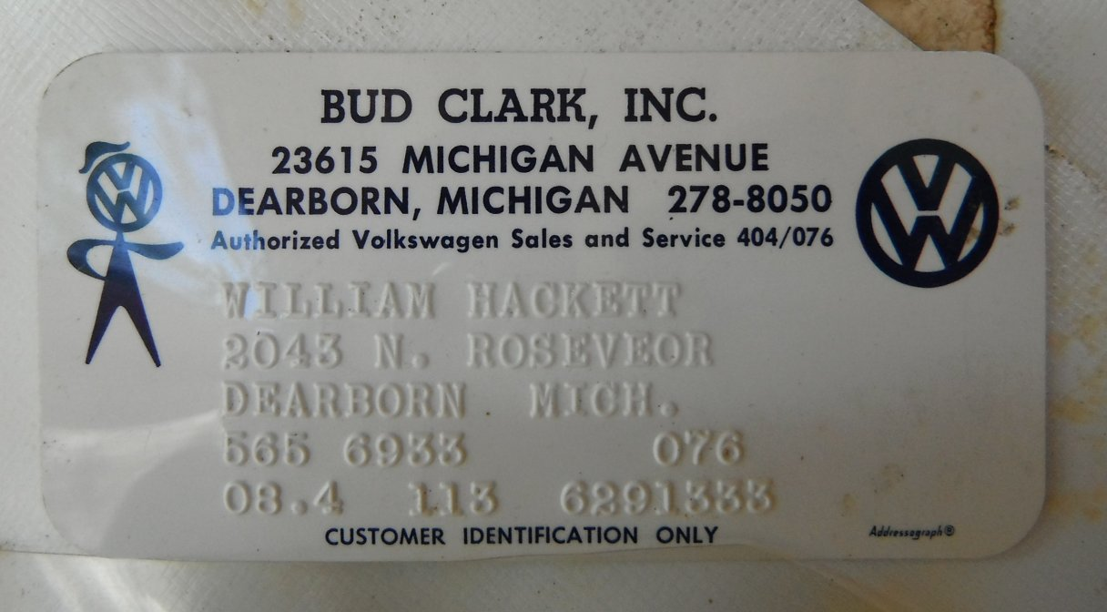 Thesamba Com Bud Clark Inc Dearborn Michigan
