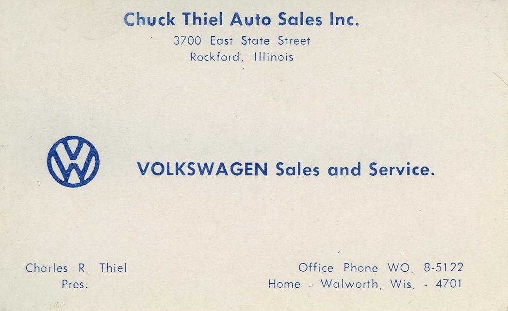 Thesamba chuck thiel auto sales rockford illinois business card colourmoves