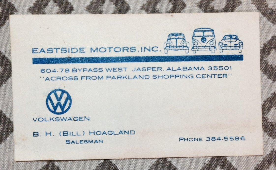 Thesamba Com East Side Motors Inc Jasper Alabama