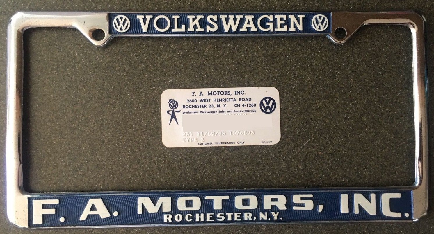 Plate frame and id card