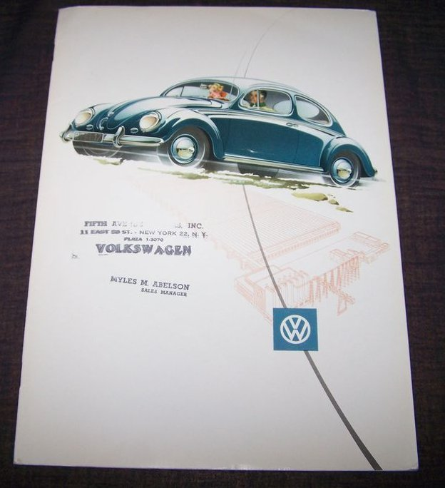 Oval Window Beetle brochure with dealer stamp