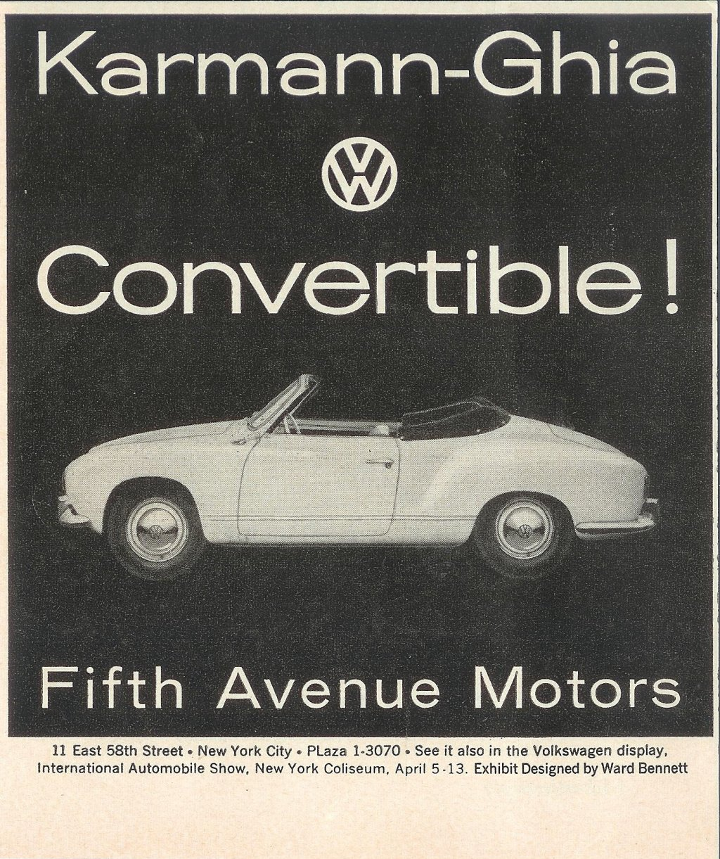 Ghia advertisement from early 1958
