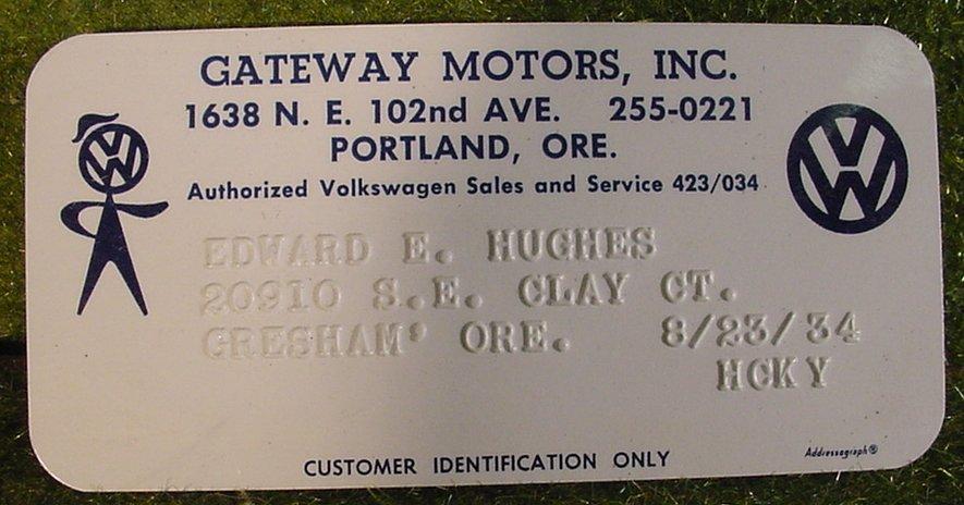 Thesamba Com Gateway Motors Portland Oregon