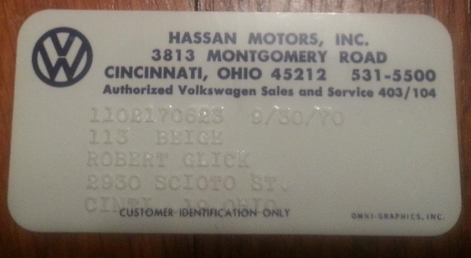 Thesamba Com Hassan Motors Inc Cincinnati Ohio