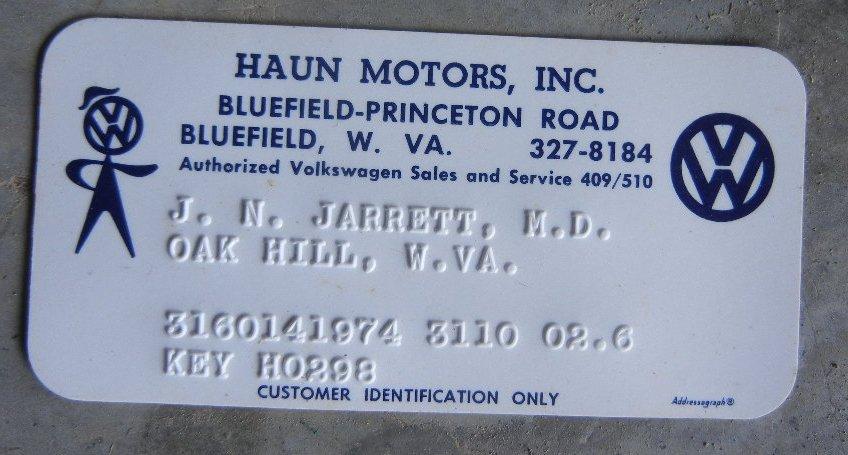 Thesamba Com Haun Motors Inc Bluefield West Virginia