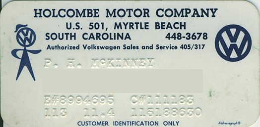 Thesamba Com Holcombe Motor Co Myrtle Beach South