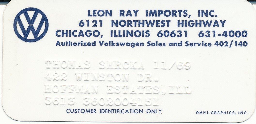 Thesamba Com Leon Ray Imports Inc Chicago Illinois