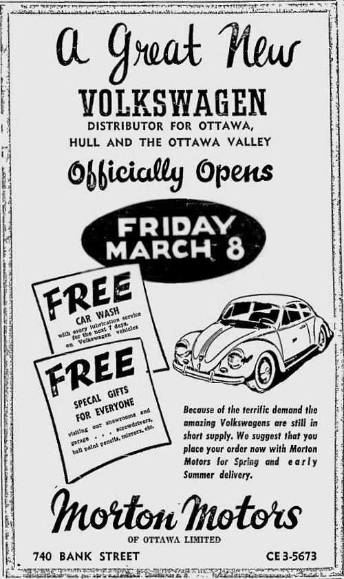 Thesamba Com Morton Motors Ottawa Ontario