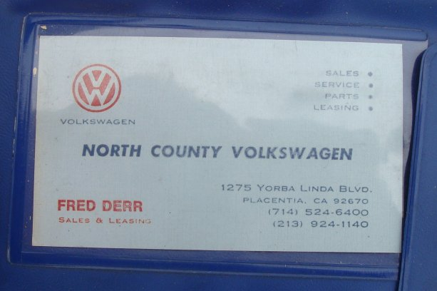 Thesamba north county volkswagen placentia california business card fred derr colourmoves