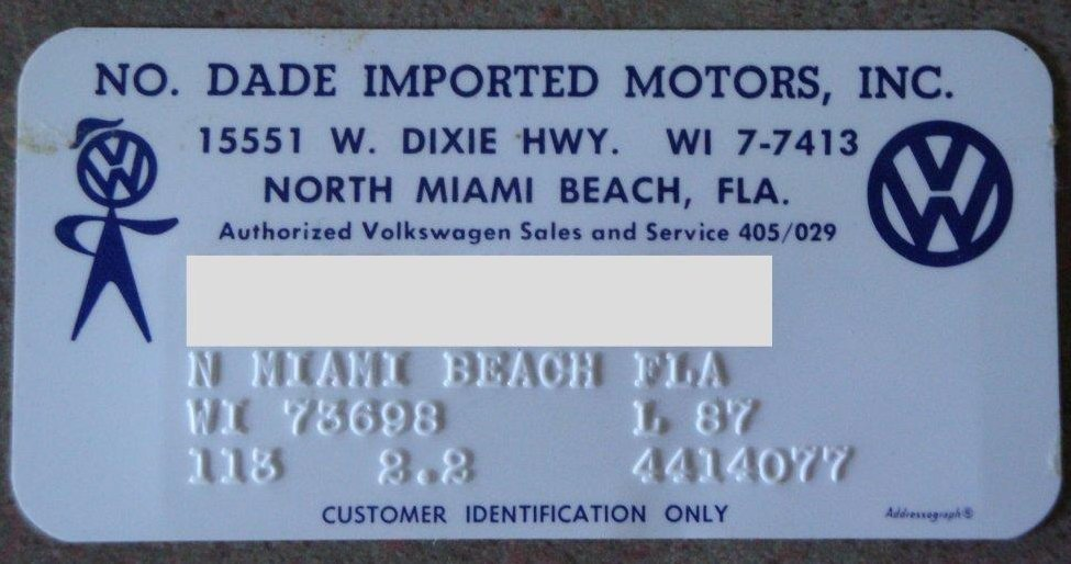 Thesamba Com North Dade Imported Motors North Miami
