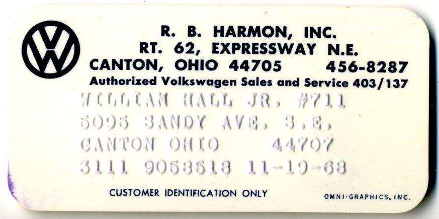 Thesamba Com R B Harmon Inc Canton Ohio