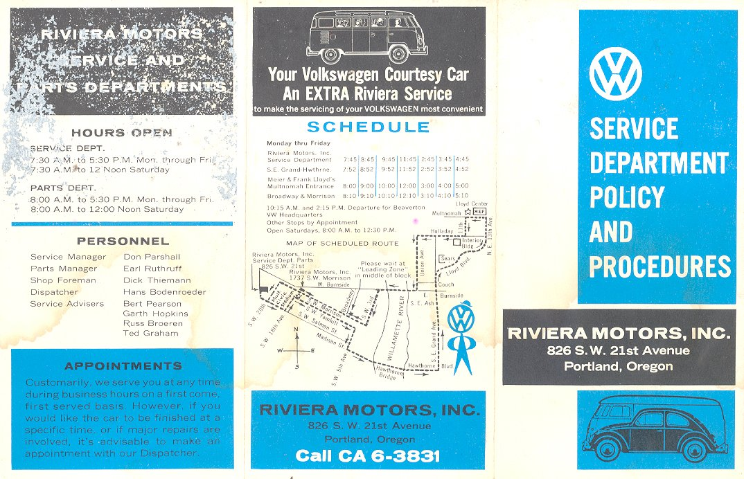 Thesamba Com Riviera Motors Portland Oregon