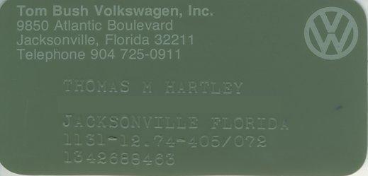 Thesamba Com Tom Bush Volkswagen Inc Jacksonville