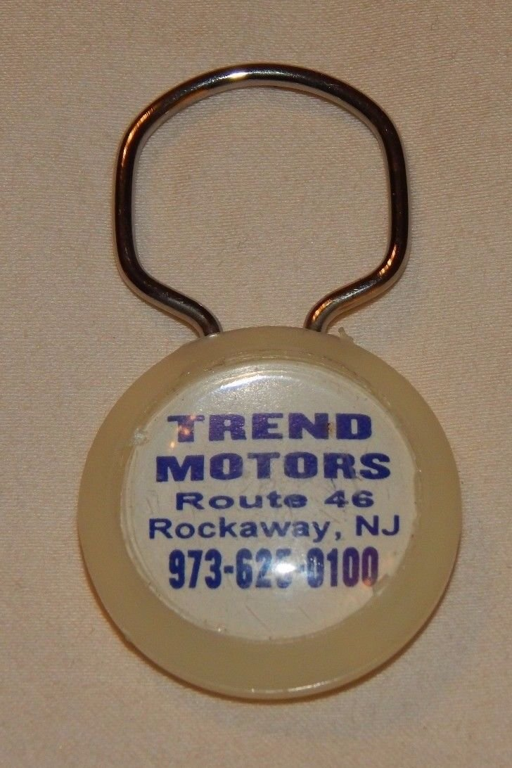 Trend Motors - Rockaway, New Jersey. Postcard. Postcard. Keychain