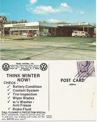 Trend Motors - Rockaway, New Jersey. Postcard. Postcard