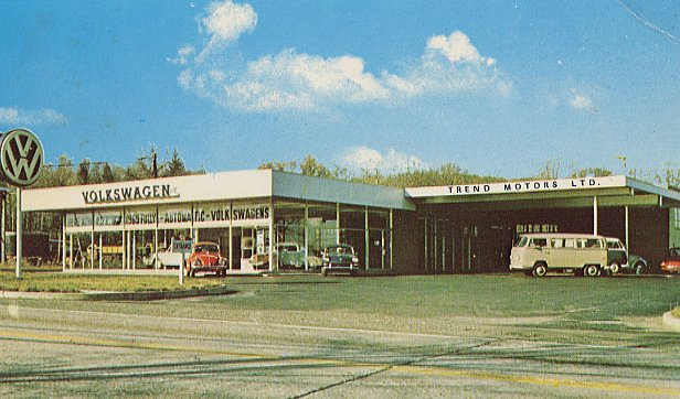 Trend Motors - Rockaway, New Jersey. Postcard
