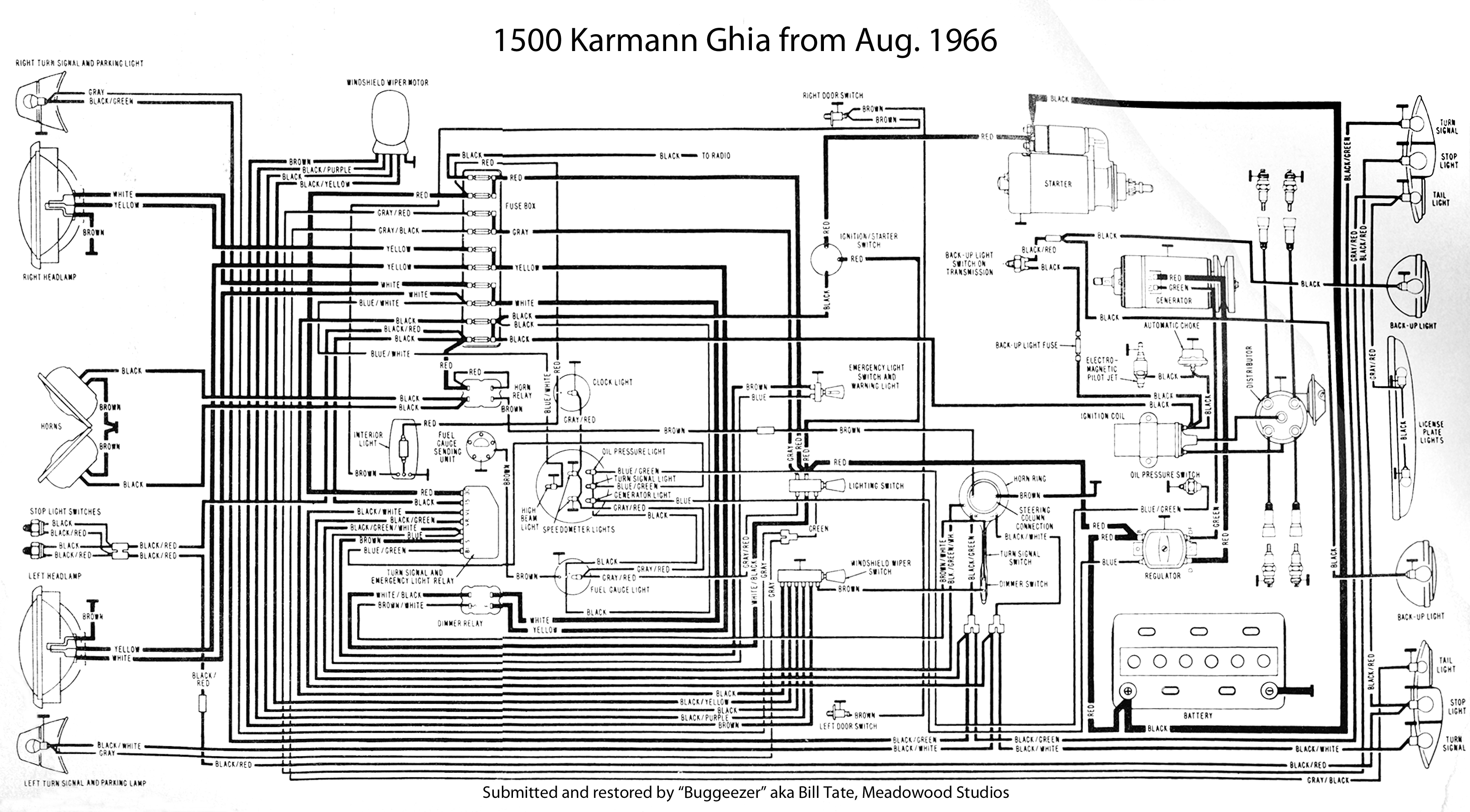 71 karmann ghia wiring diagram thesamba.com :: karmann ghia wiring diagrams #14