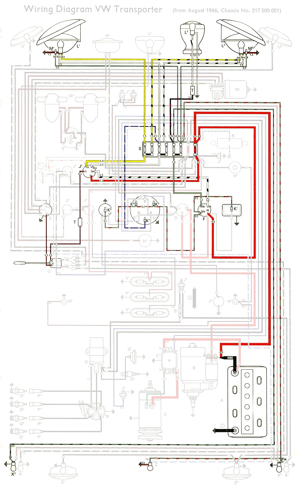 thesamba com type 2 wiring diagrams headlight schematic highlight
