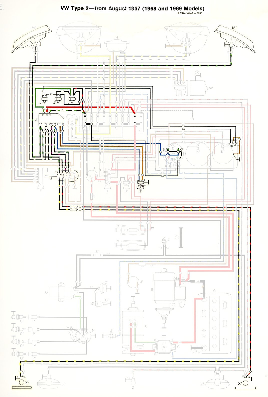 Vw Turn Signal Wiring Great Design Of Diagram 1964 Bug Fuse Box 1968 Bus Get Free Image About