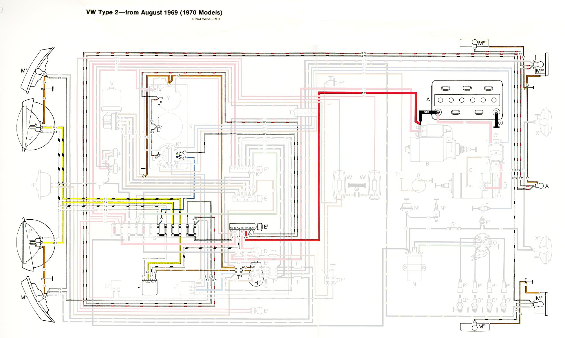 thesamba com type 2 wiring diagrams headlight highlight