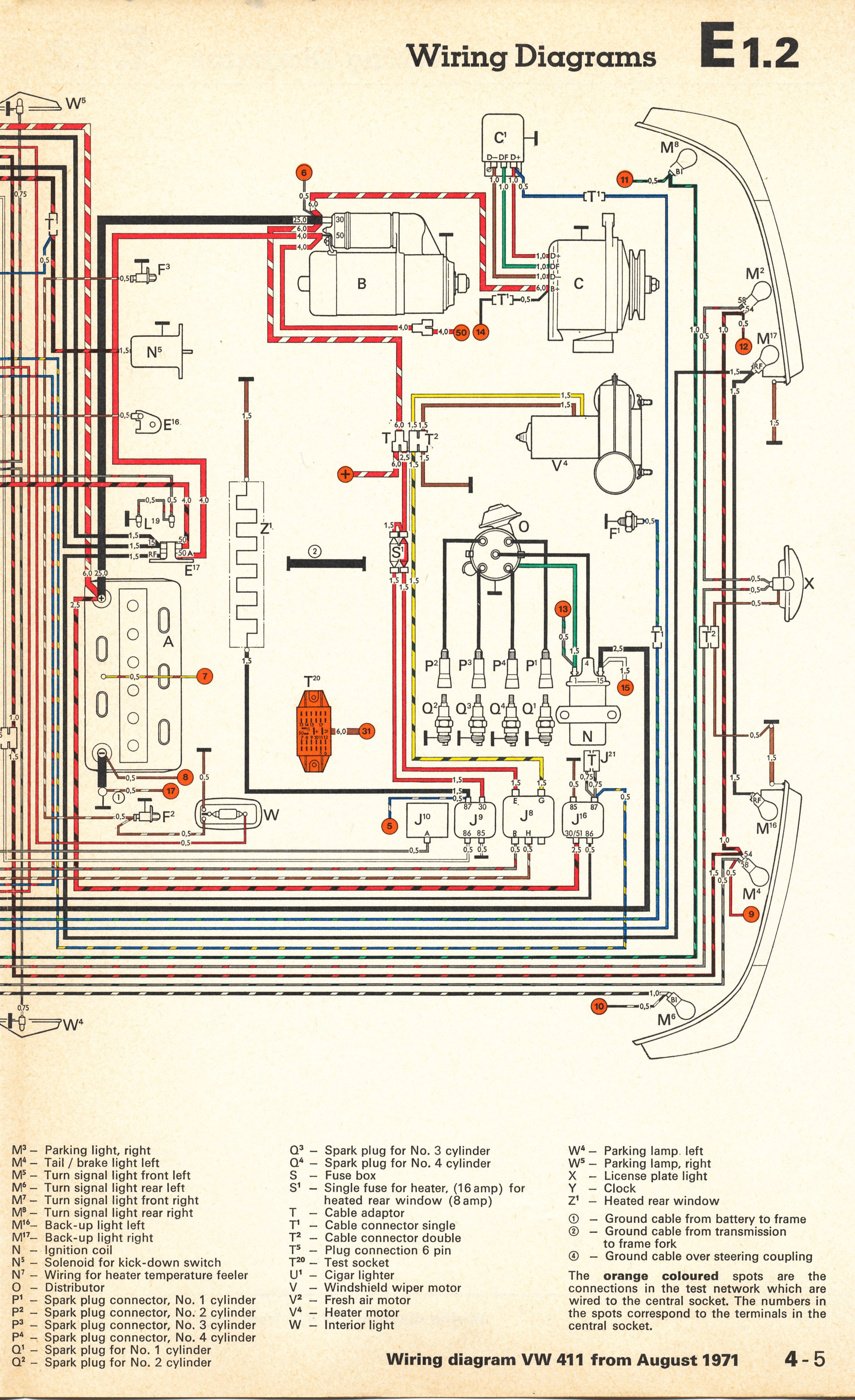 thesamba com type 4 wiring diagrams 1972