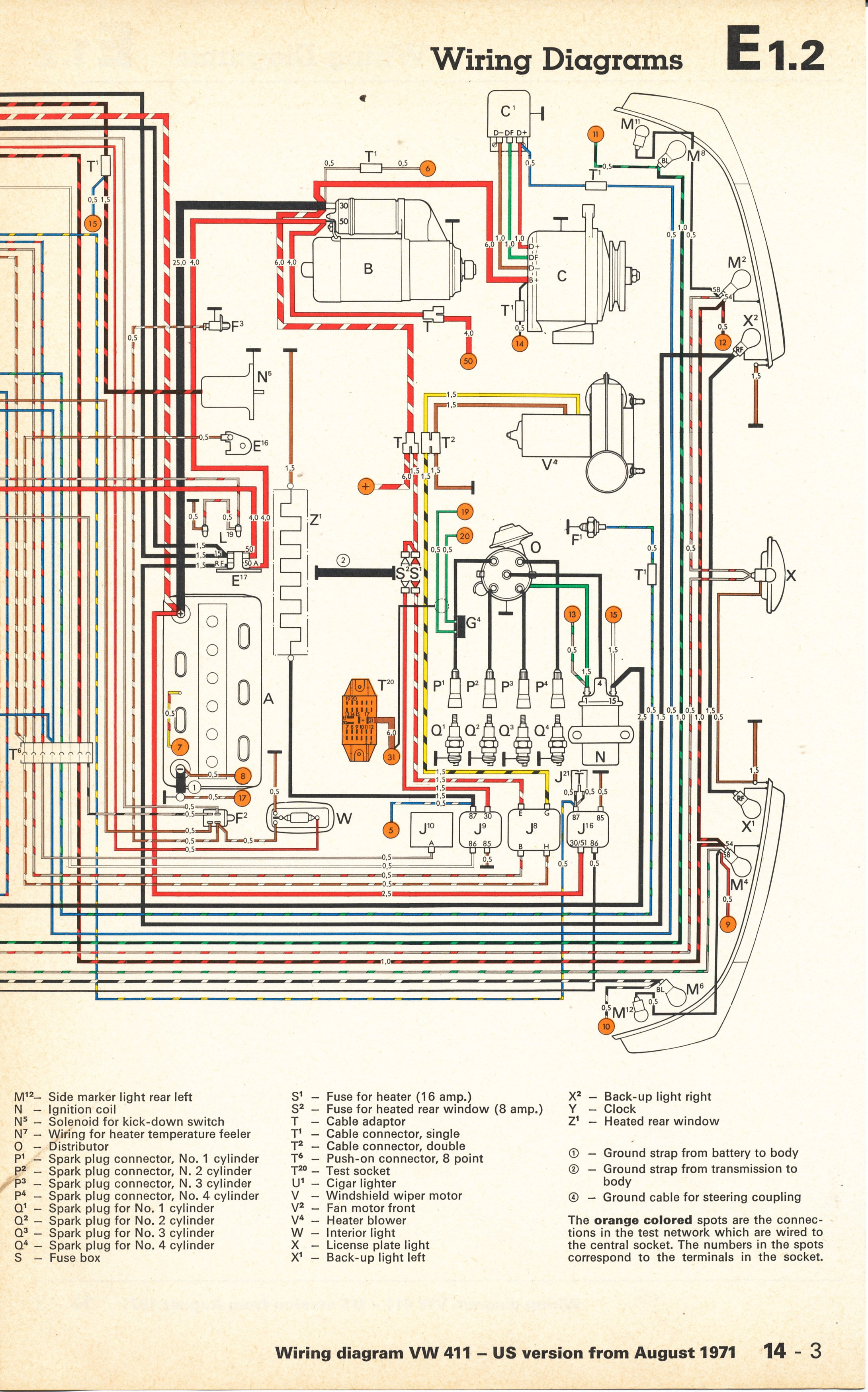 73 vw thing wiring diagram thesamba.com :: type 4 wiring diagrams #5