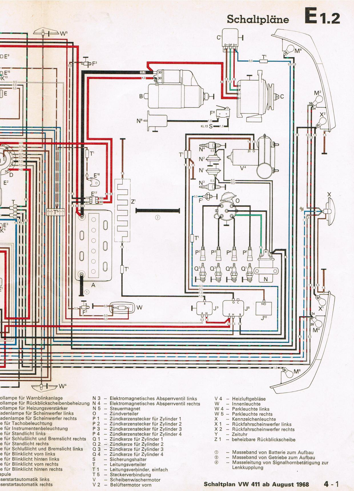 Vw Type 4 Wiring Diagram Data Diagrams 2000 Bettle Thesamba Com Beetle