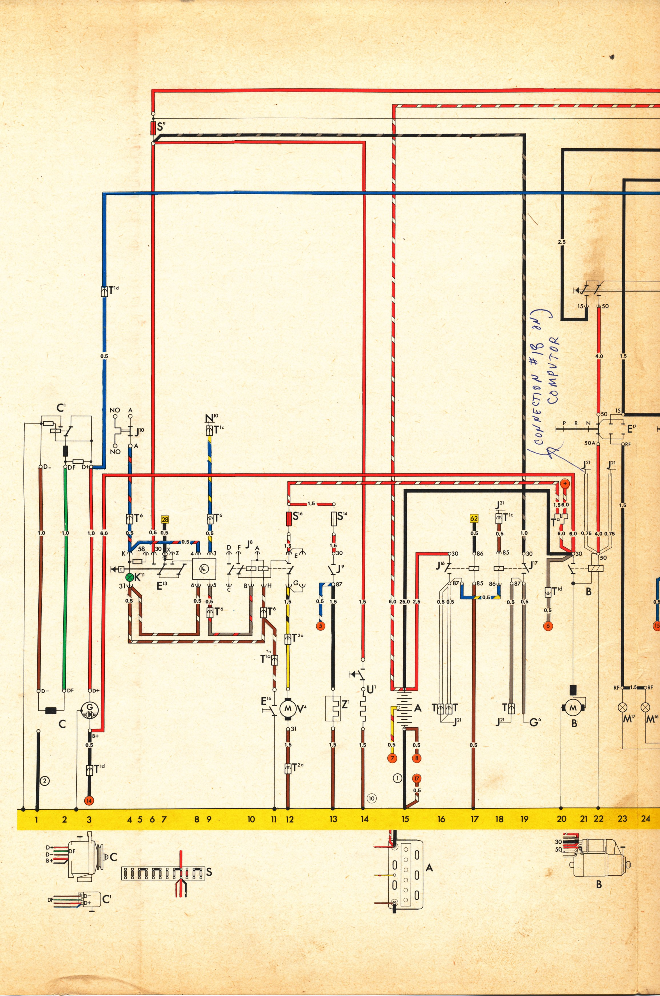 Type 4 Wiring Diagrams Vw 411 412 Fuse Box 1973 Current Flow