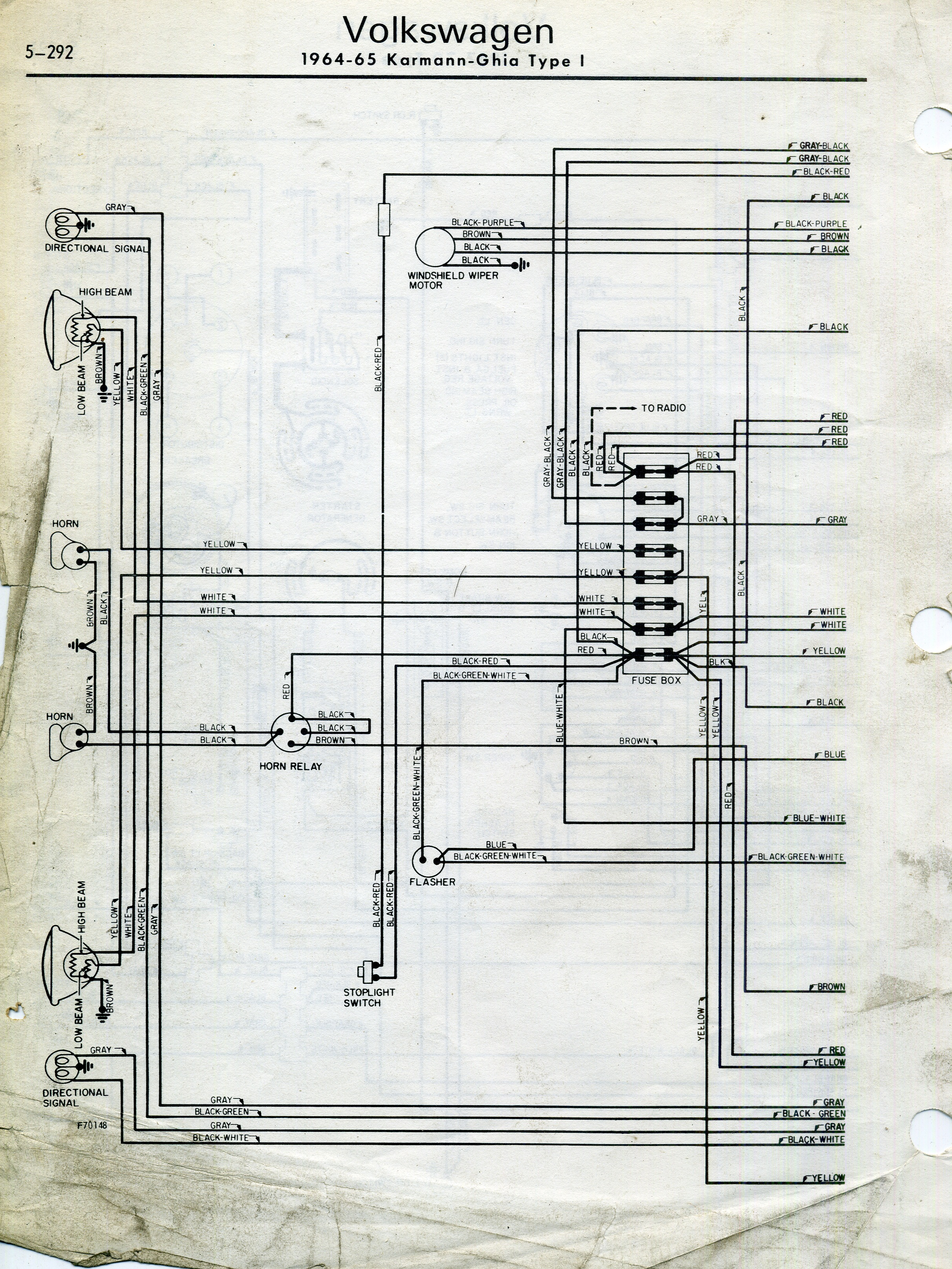 thesamba.com :: karmann ghia wiring diagrams 1974 vw karmann ghia wiring diagram ghia wiring diagram