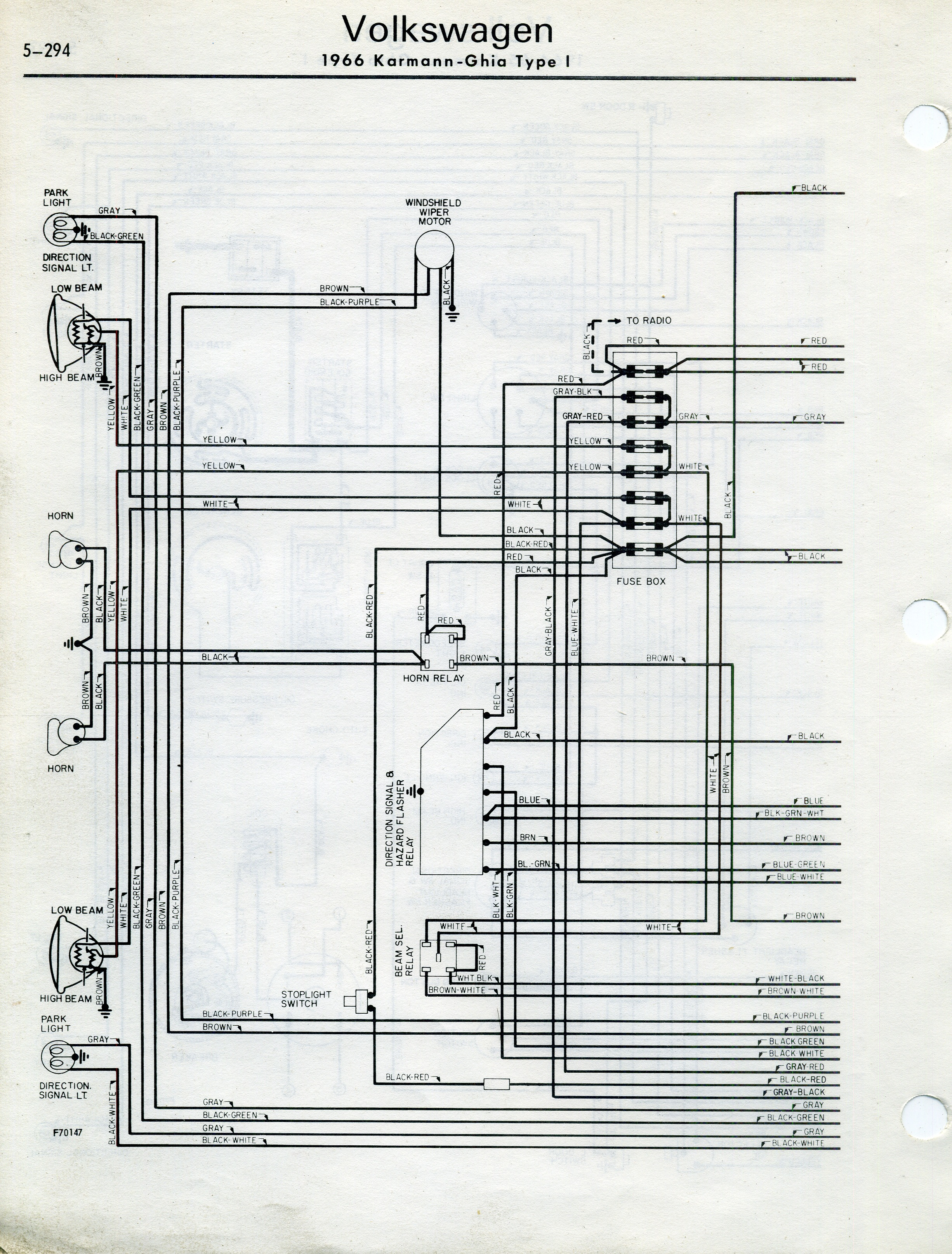 thesamba.com :: karmann ghia wiring diagrams 1967 vw karmann ghia wiring diagram #13