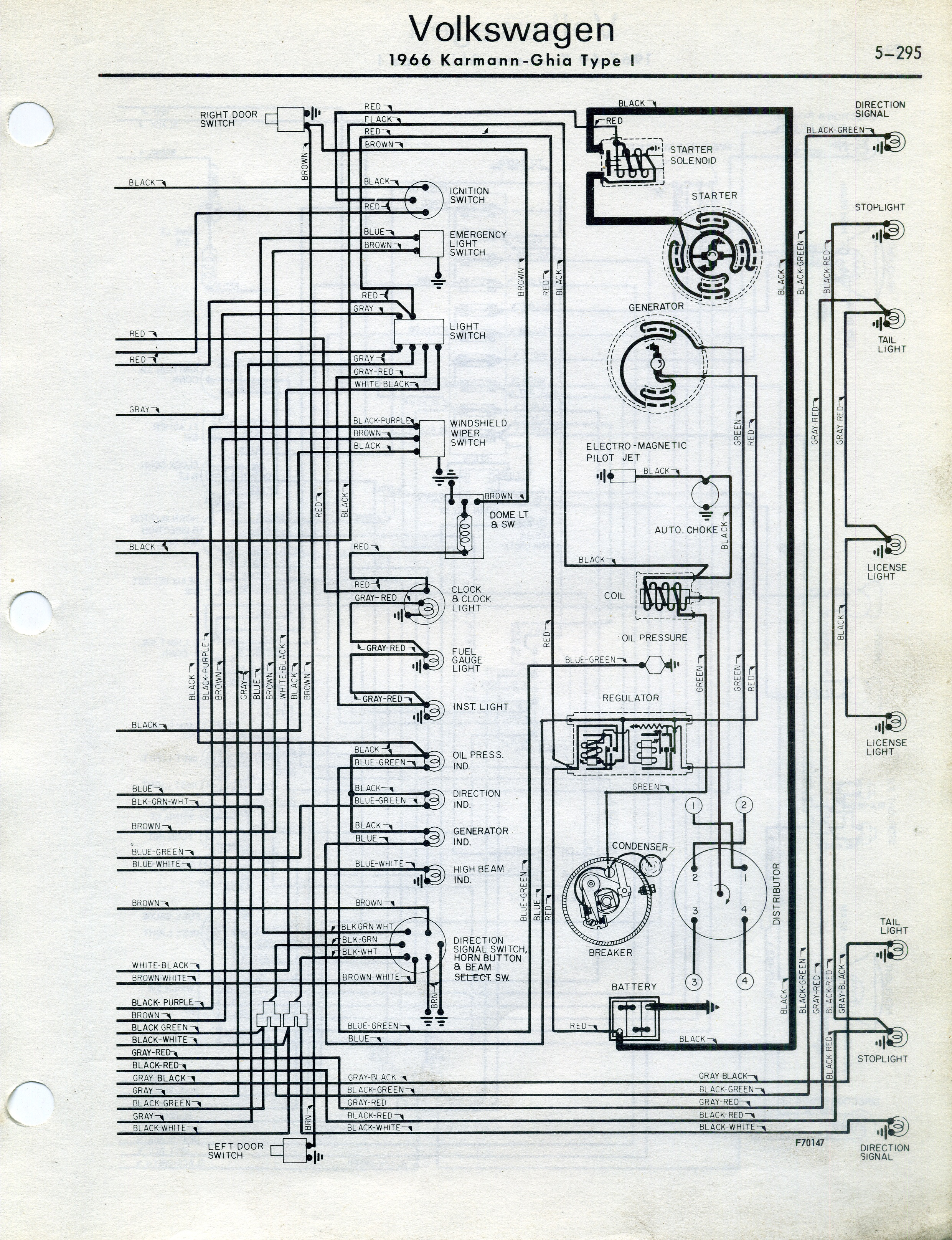 1964 karmann ghia wiring diagram