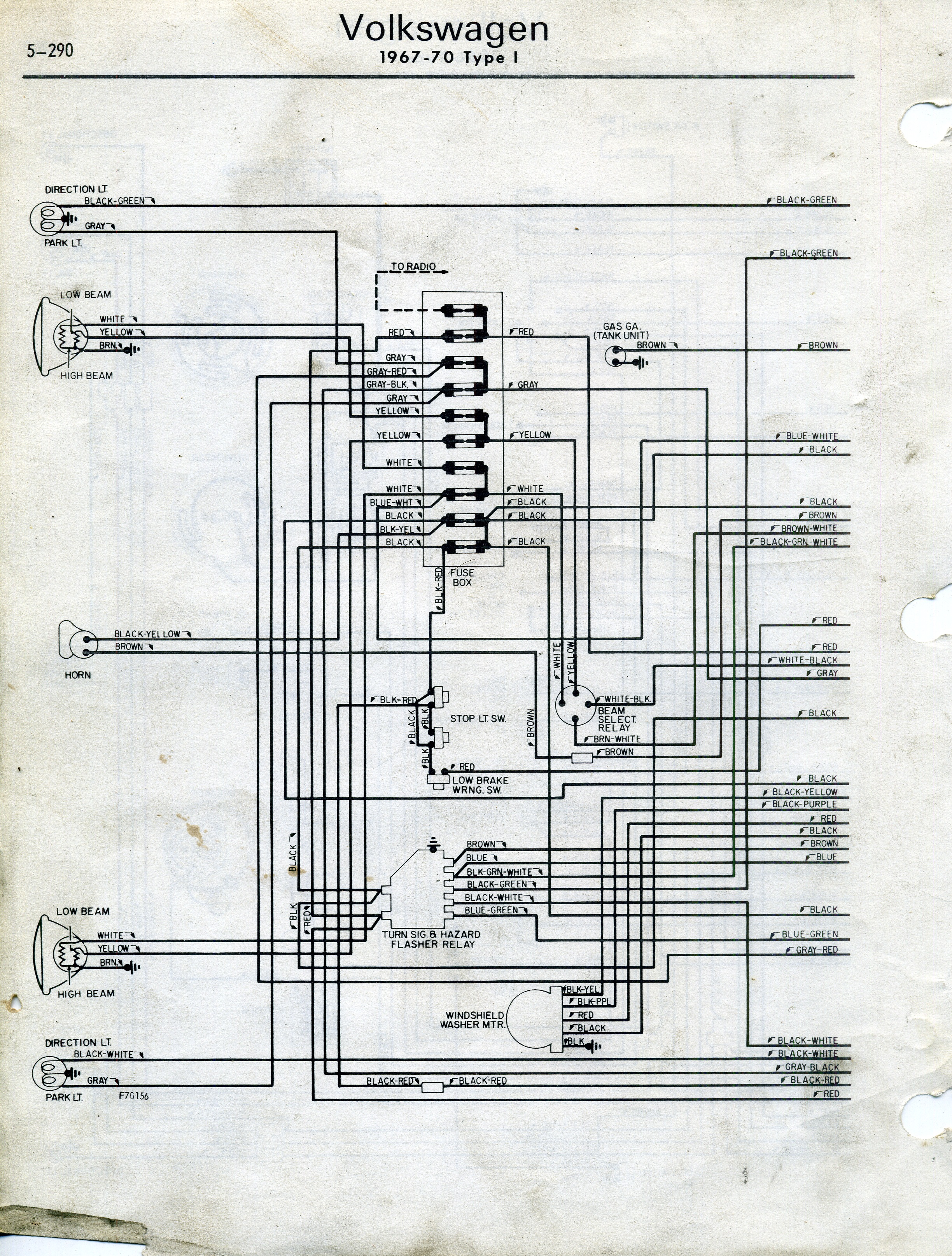 Type 1 Wiring Diagrams 67 Vw Harness Free Download Diagram Schematic 1967