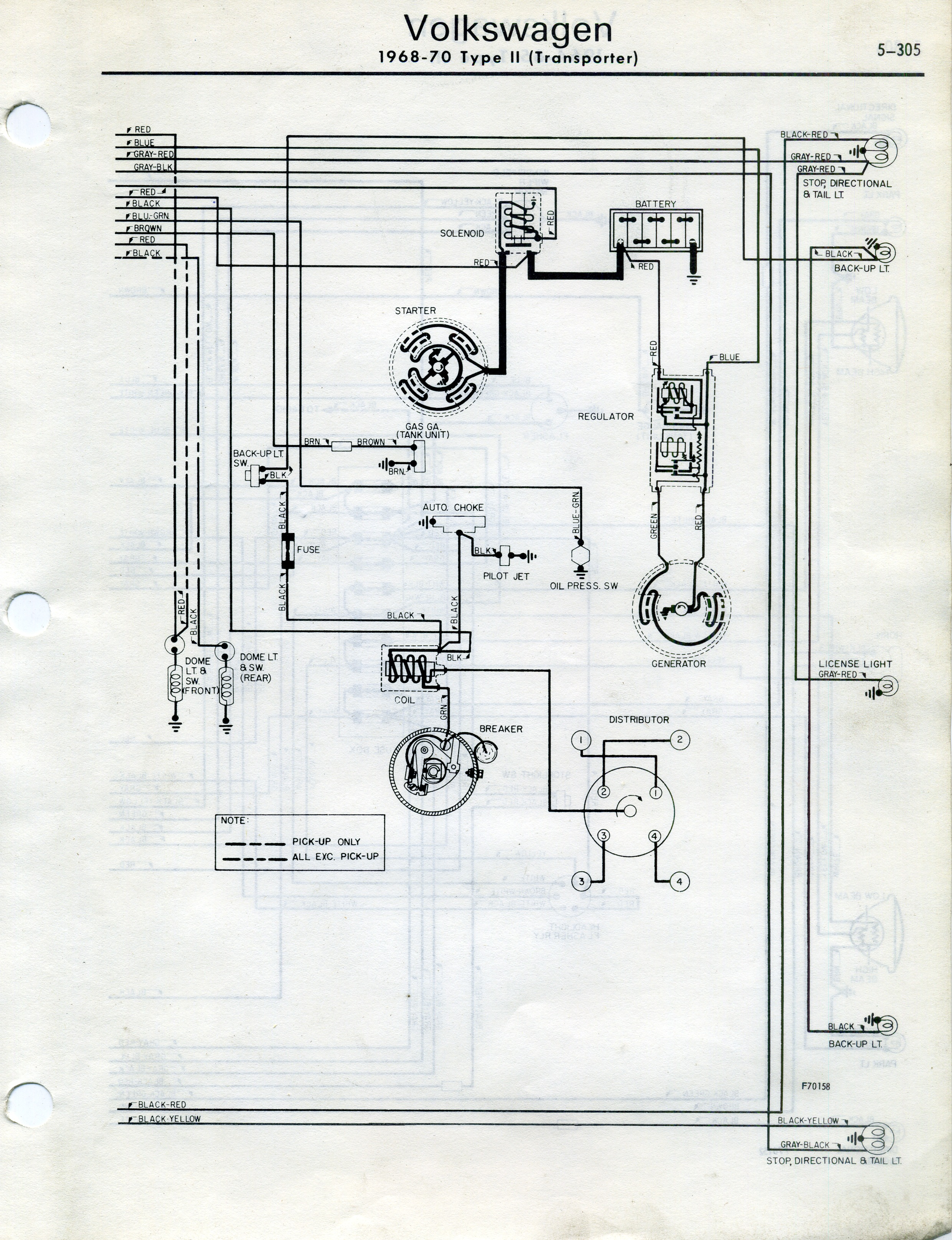 Type 2 Wiring Diagrams Fuel Injected 305 Engine Diagram 1968 70 From National Automotive Service