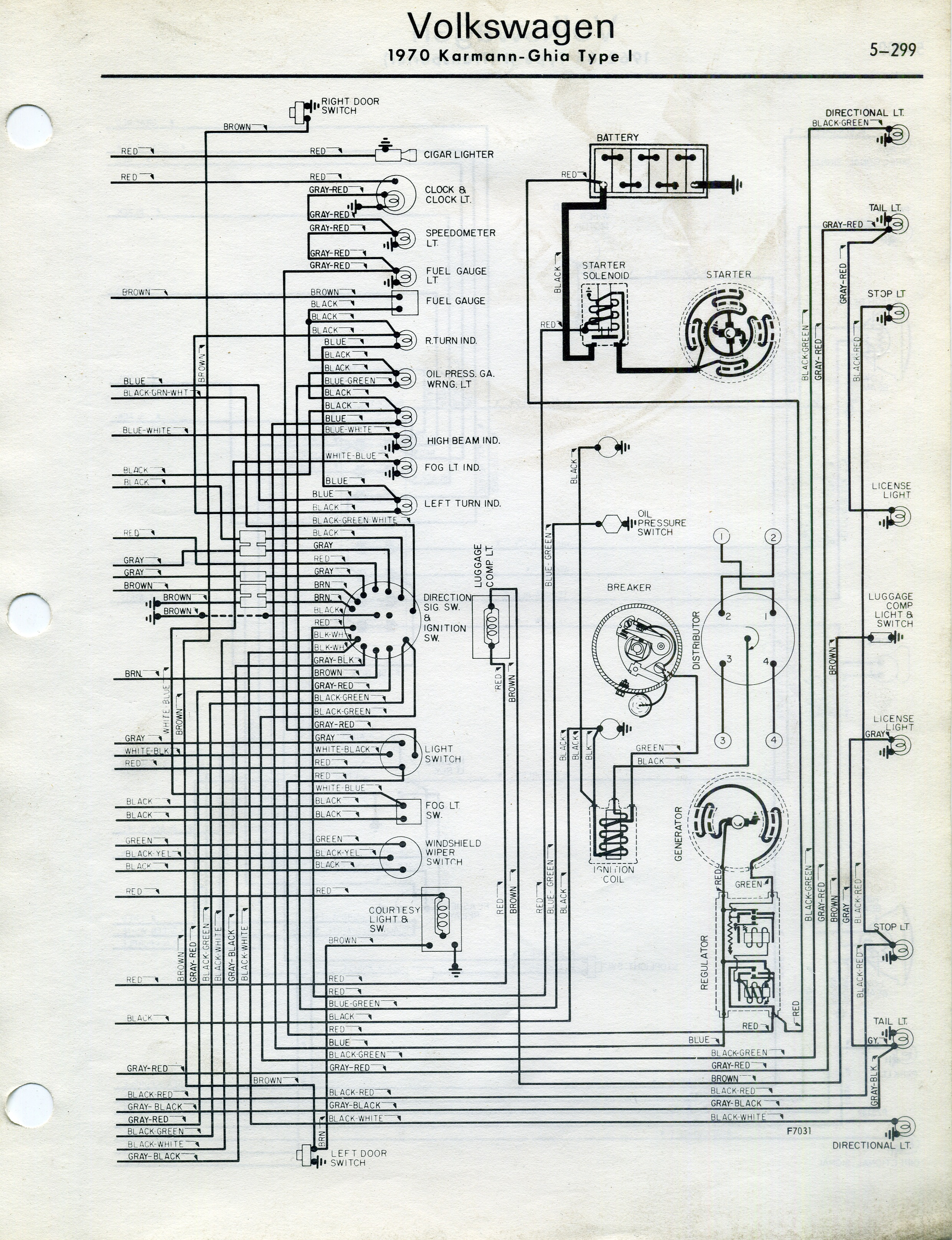 70 Vw Wiring Diagram Wiring Library