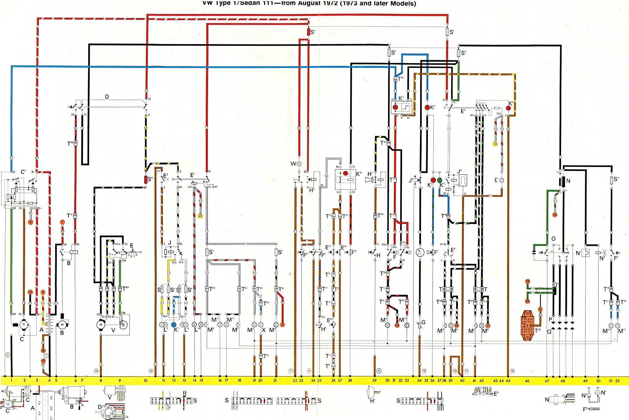 74 bug wiring schematics my 74 vw bug right taillight as well as licence plate ...