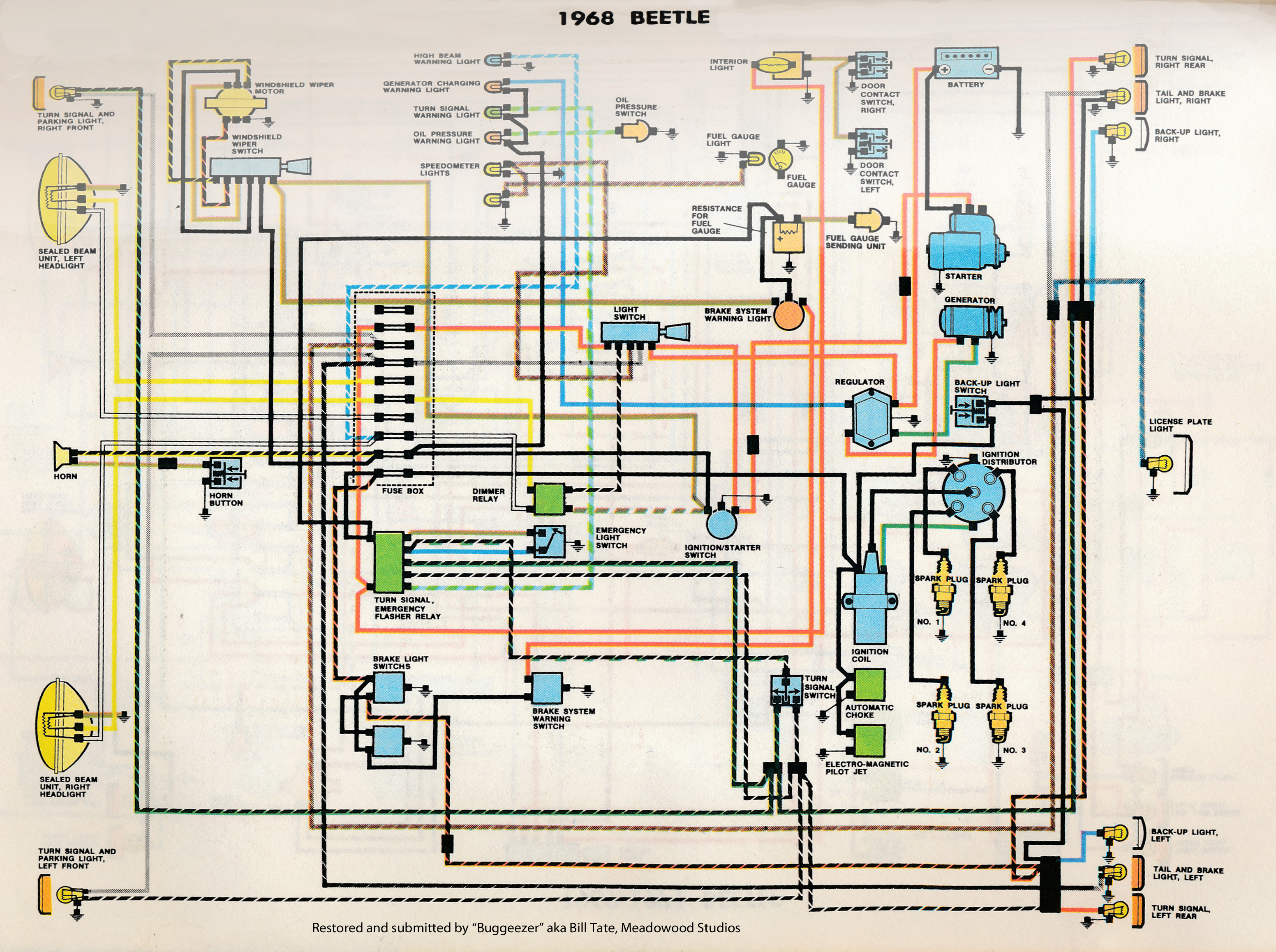71 VW Beetle Wiring Diagram on 1973 super beetle wiring diagram