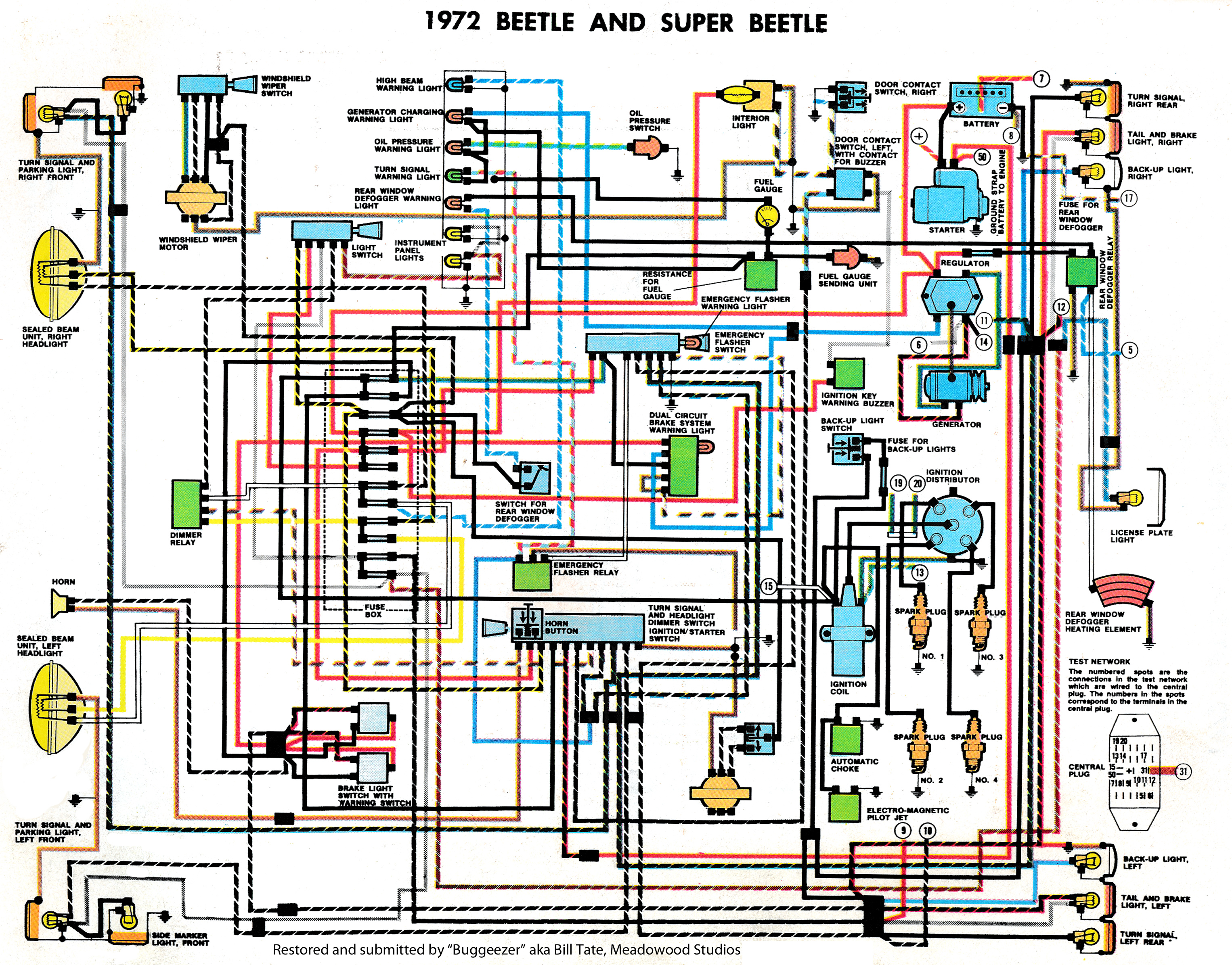 Beetle_Super_1972_Clymers thesamba com beetle late model super 1968 up view topic 1971 vw beetle wiring diagram at nearapp.co