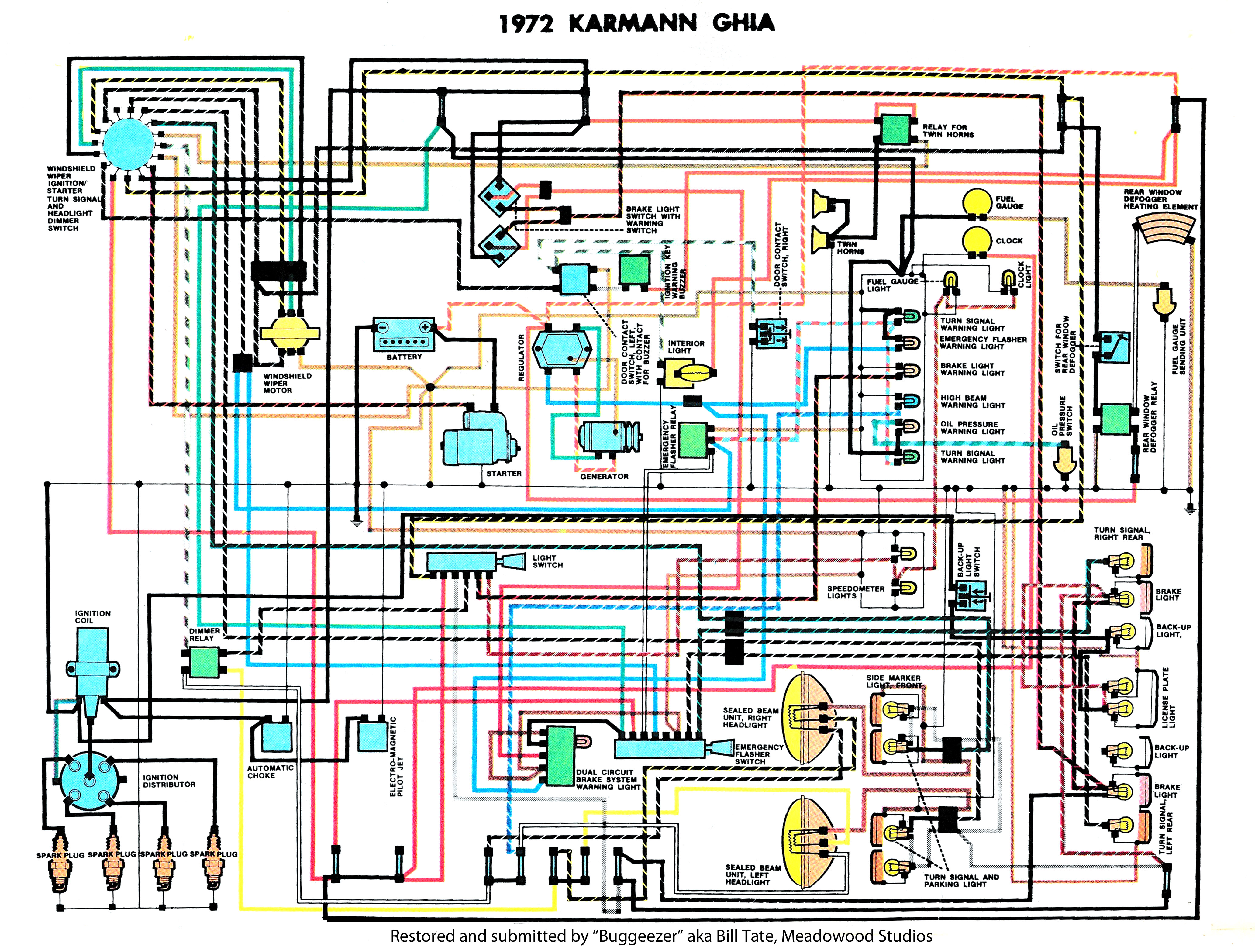 Ghia_1972_Clymers thesamba com karmann ghia wiring diagrams 1960 corvette wiring diagram at fashall.co