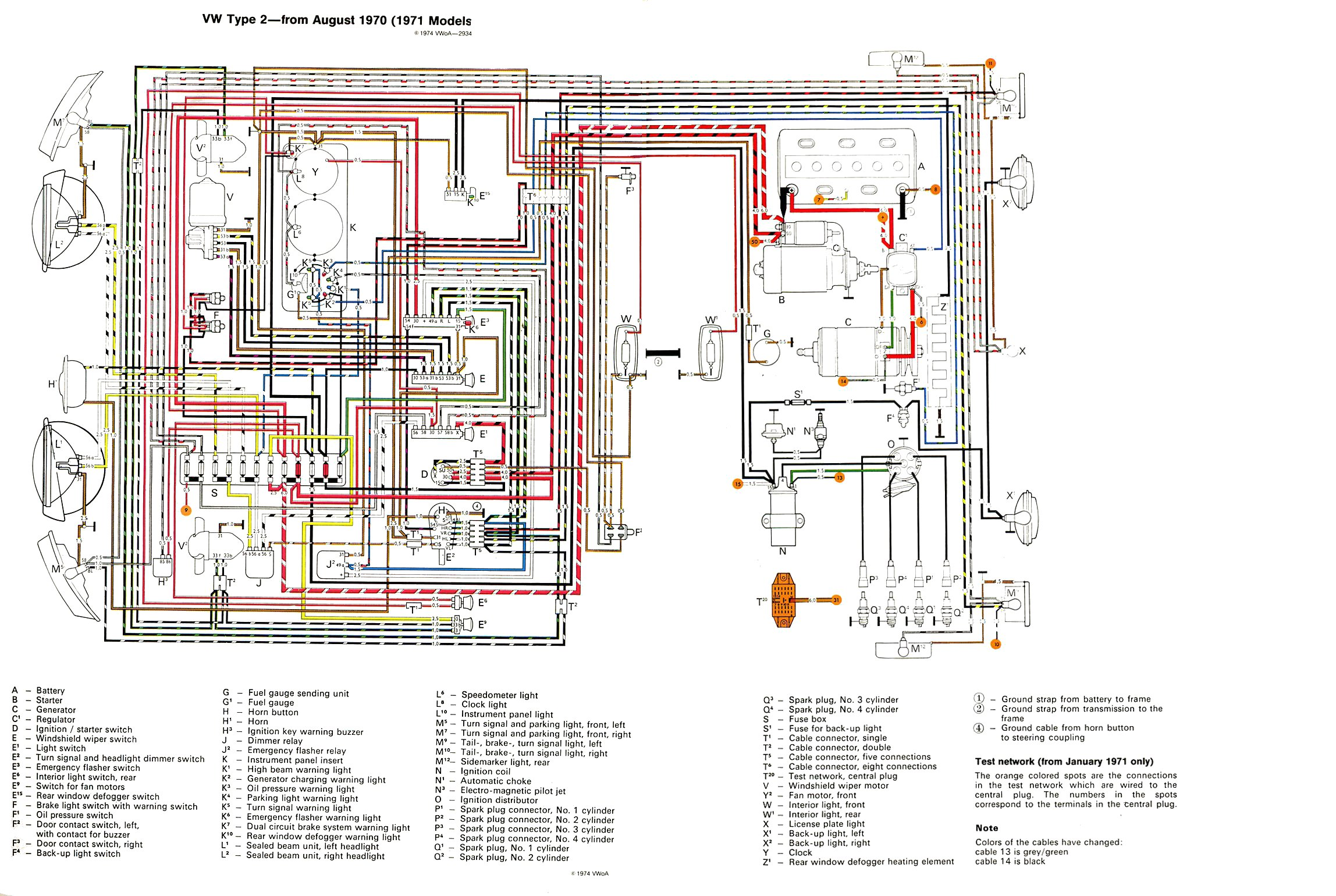 thesamba com type 2 wiring diagrams rh thesamba com 70 Chevy Wiper Motor  Wiring 1971 Corvette Wiring Diagram