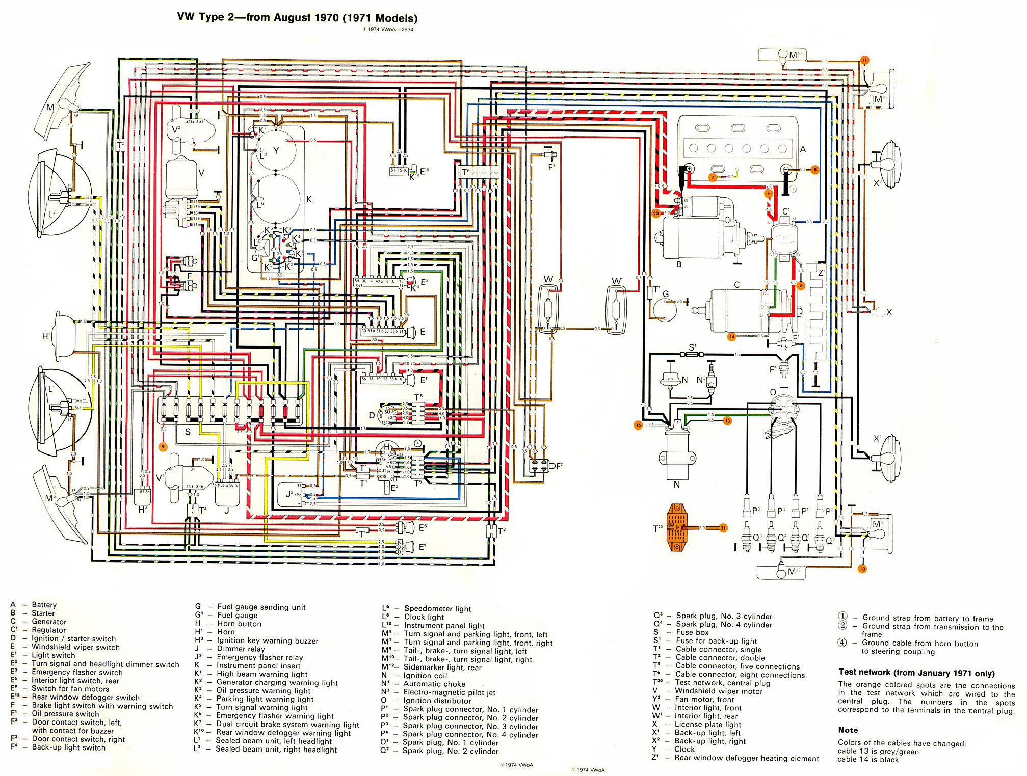 thesamba com type 2 wiring diagrams rh thesamba com Basic Electrical Schematic Diagrams Schematic Circuit Diagram