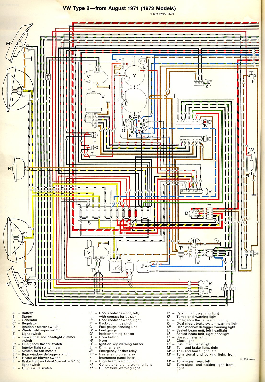 72 Vw Wiring Diagram Free For You Beetle Engine Voltage Regulator 1974 1972 Super Heater Image Generator Bus