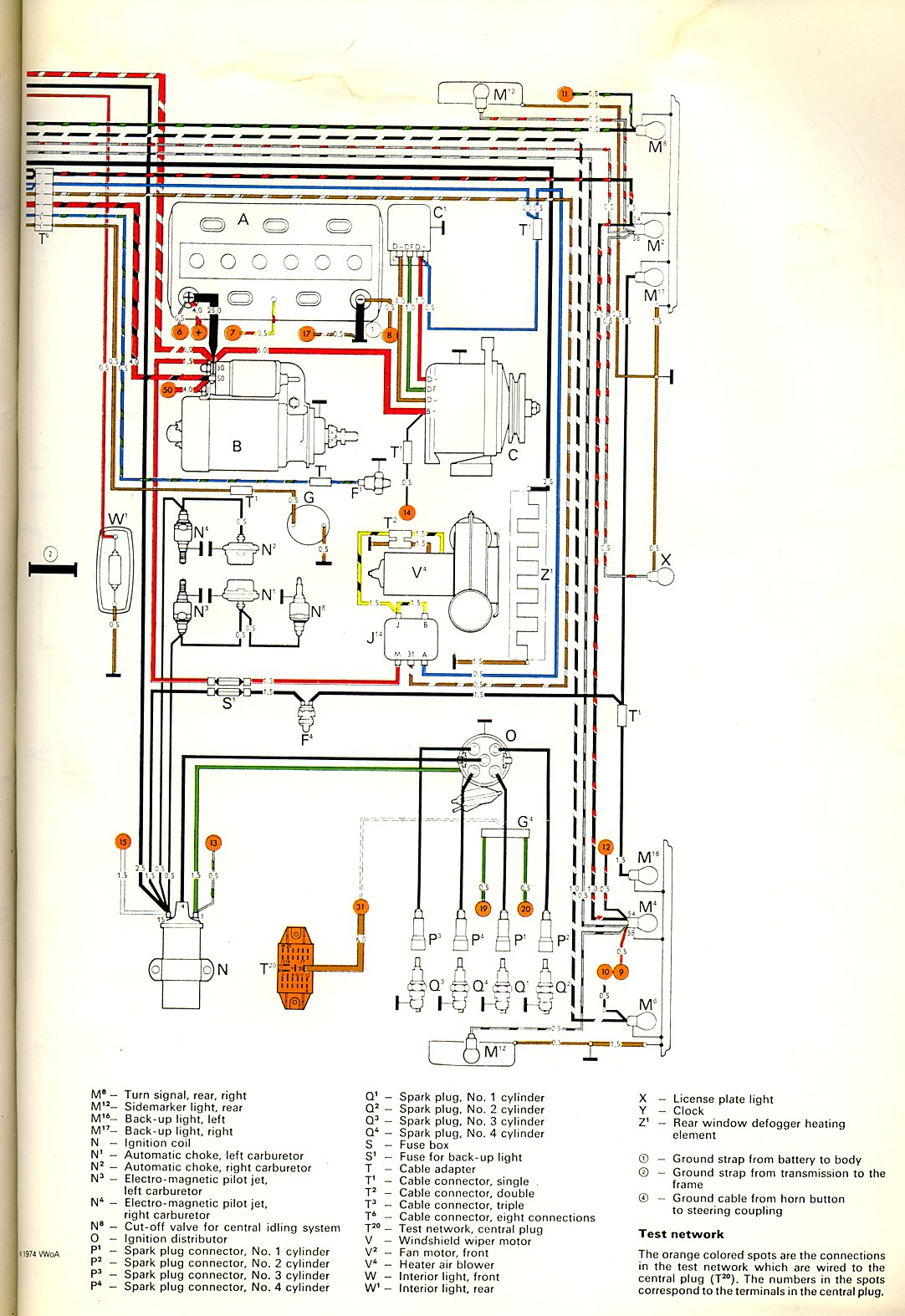 thesamba.com :: type 2 wiring diagrams 1979 vw bus fuse box back wire diagram 1979 vw van