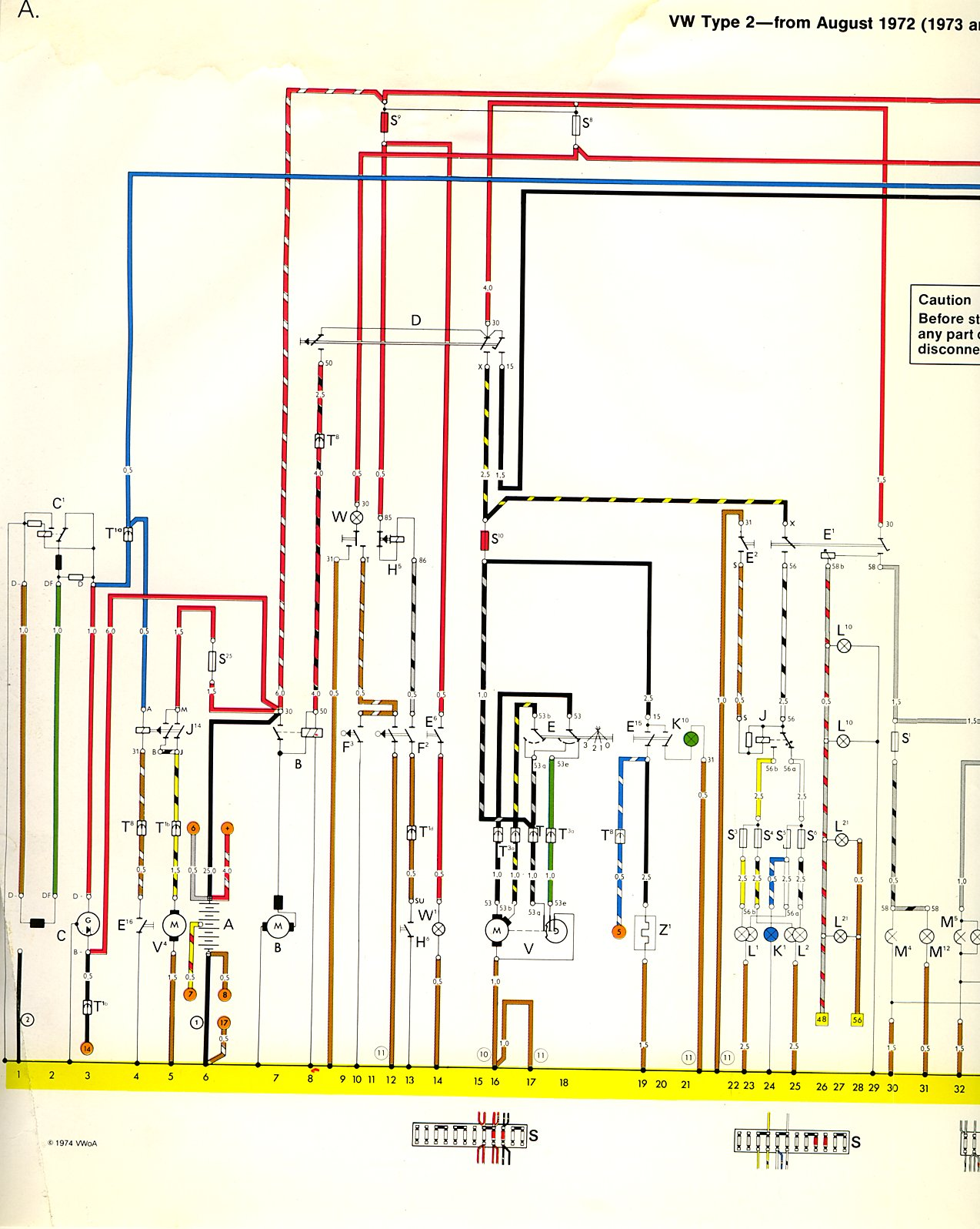 i'm looking for a color-coded wiring diagram for a 1973 vw ... 1973 volkswagen wiring diagram