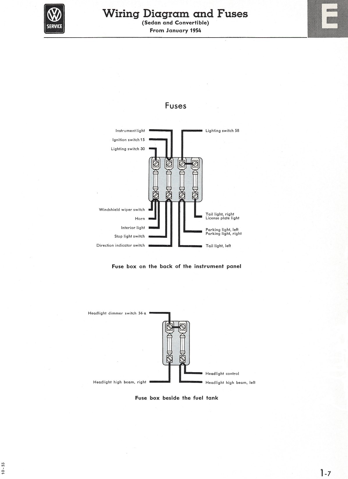 Vw Type 1 Wiring Diagram Wire Schematic 74 Charger Headlight Diagrams Thesamba Com 64 Volkswagen Bug Beetle