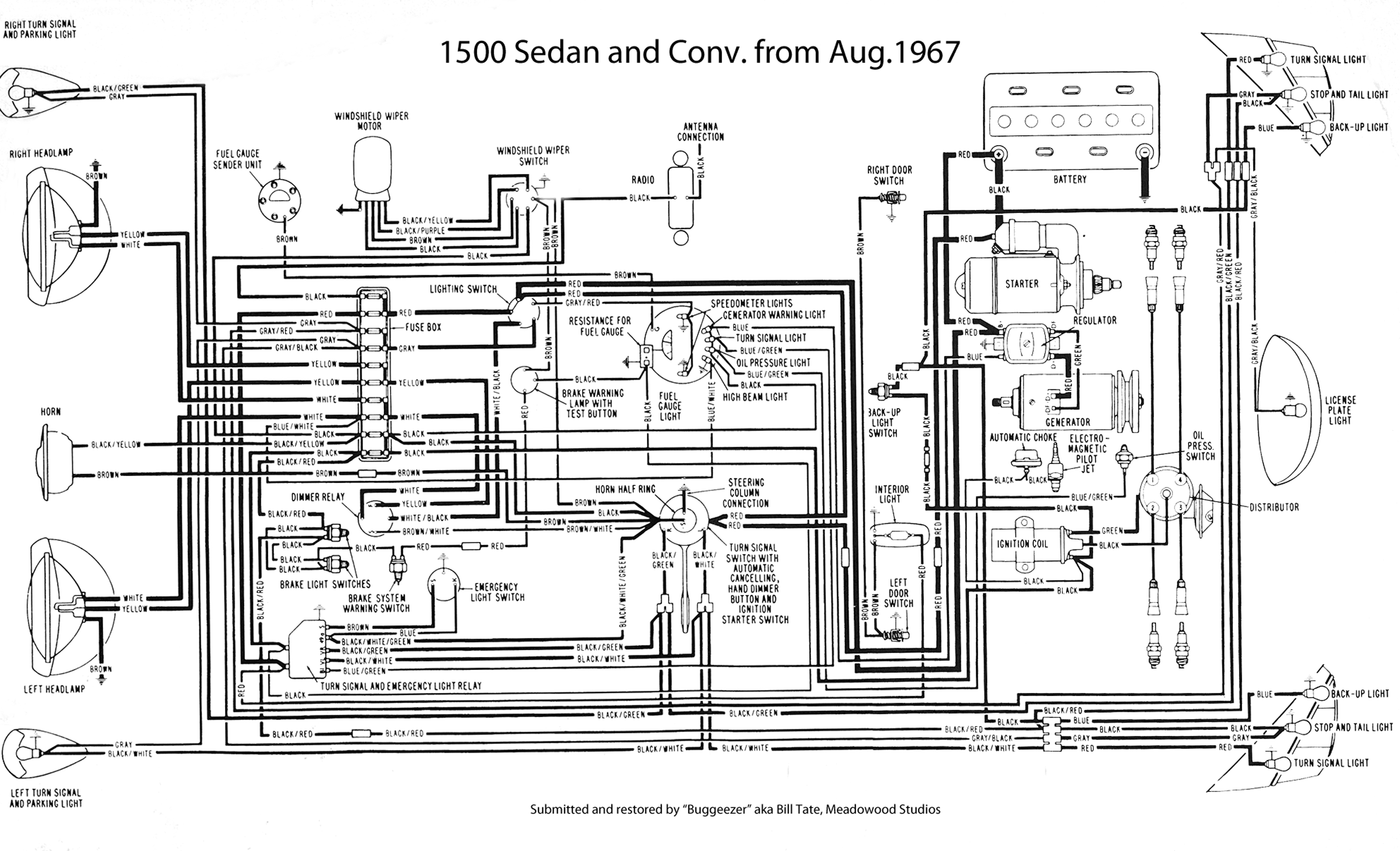 vw beetle fuse box diagram 1969
