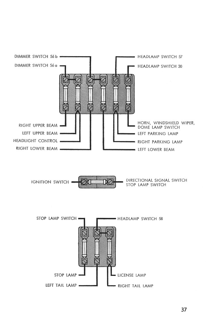 Ford 1956 Customline Fairlaine Thunderbird Wiring Diagram Manual View