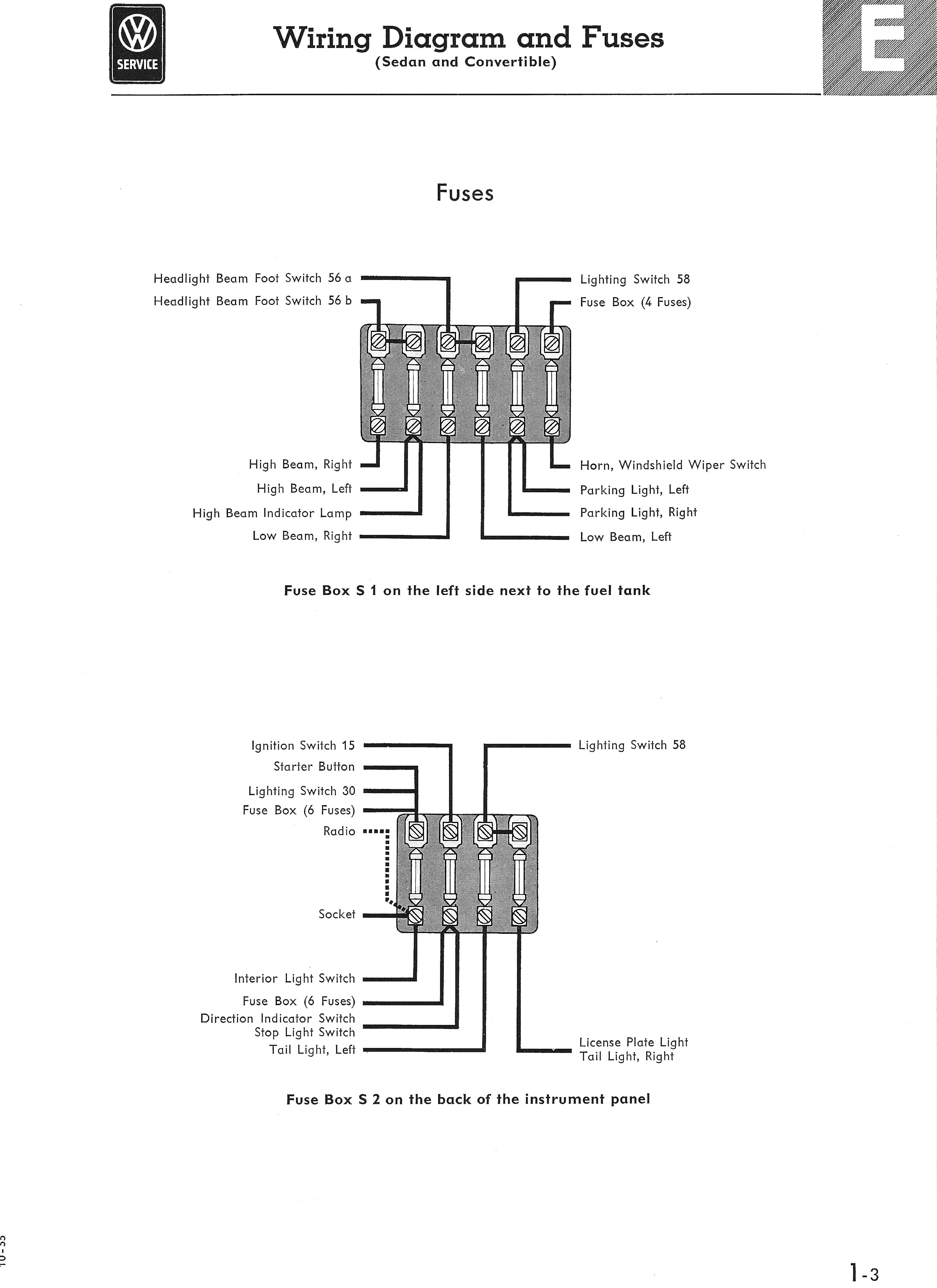 Thesamba Com Type 1 Wiring Diagrams 2006 Sierra Wiring Diagram Fuse Panel  Diagram For Wiring