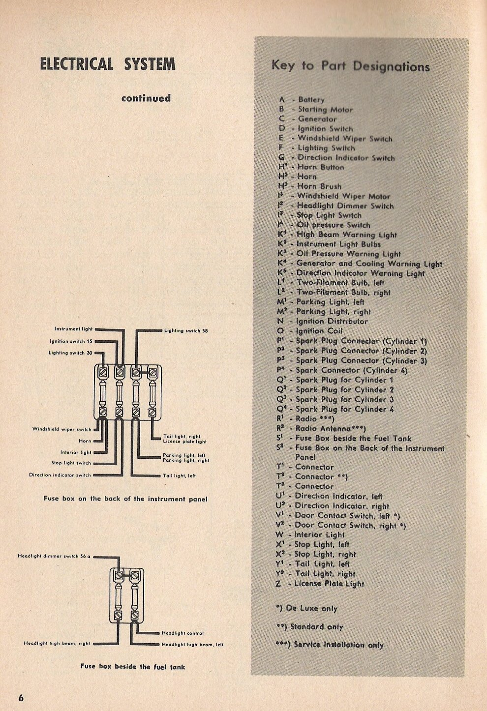 Type 1 Wiring Diagrams 1963 Volkswagen Headlight
